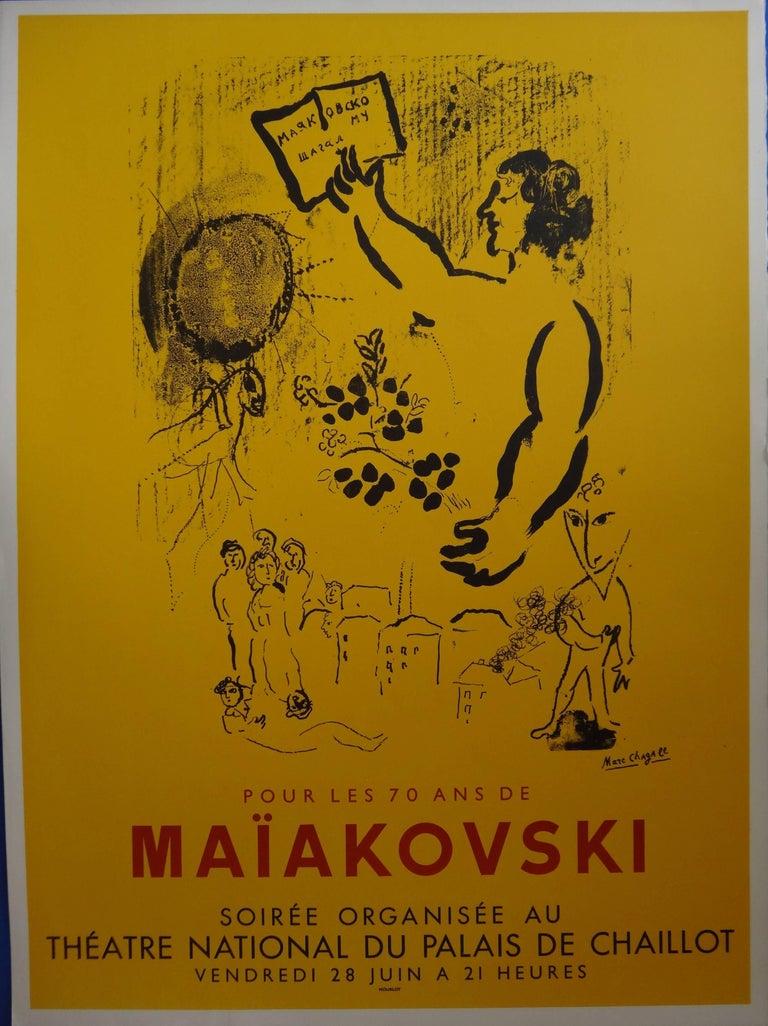 Maiakovski - Original lithograph poster / 500 copies - Mourlot
