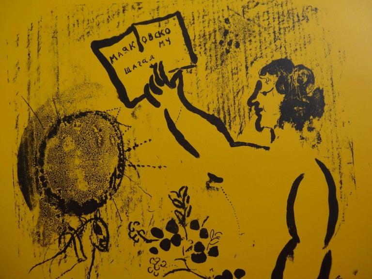 Maiakovski - Original lithograph poster / 500 copies - Mourlot For Sale 1
