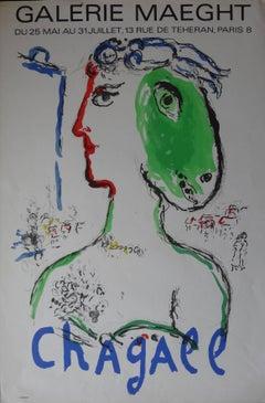 Artist as a Phoenix - Original lithograph poster - Mourlot