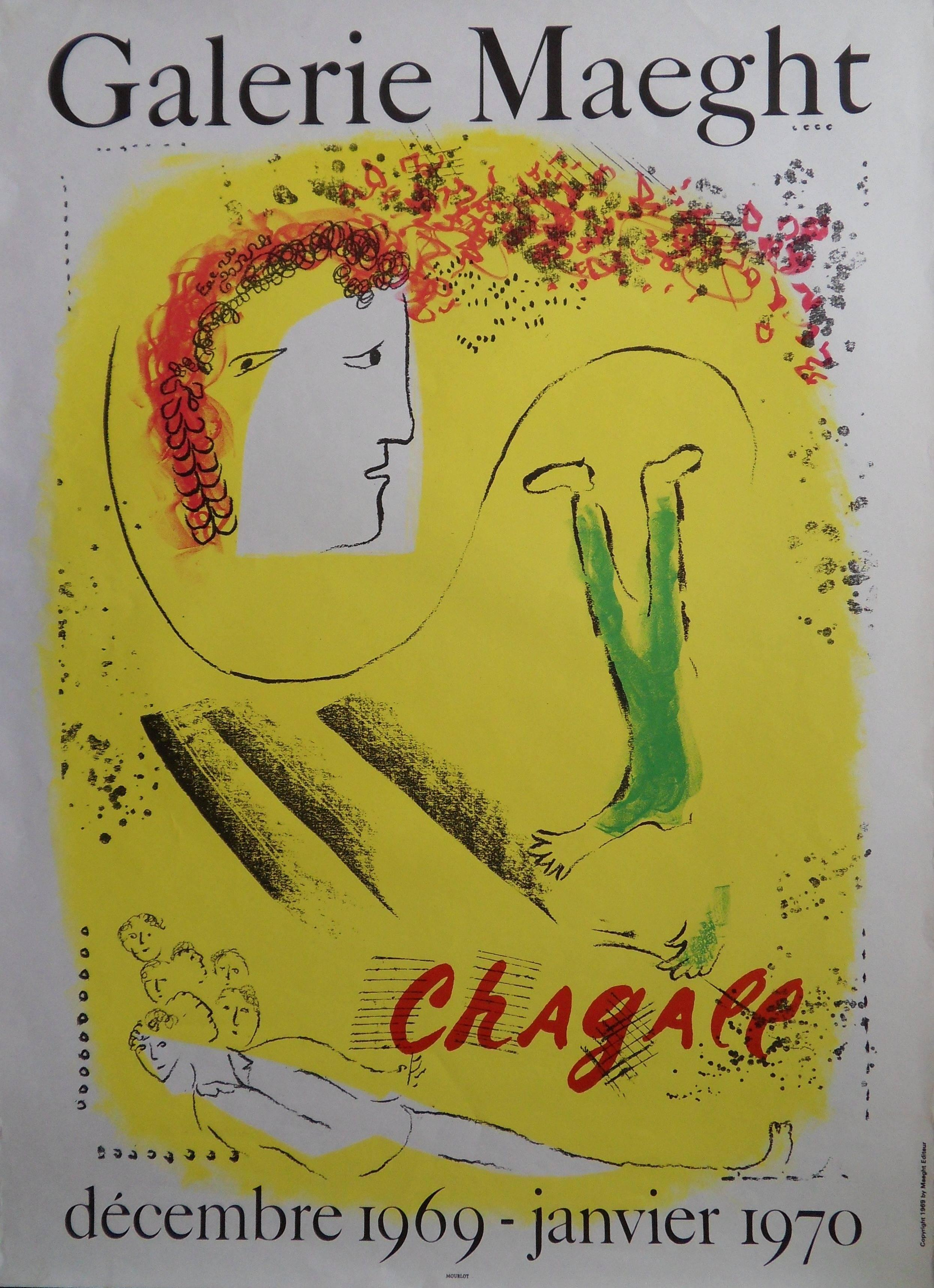 Yellow Dream - Original lithograph poster - Mourlot 1969