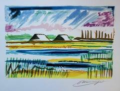 Salt Marshes - Original handsigned lithograph