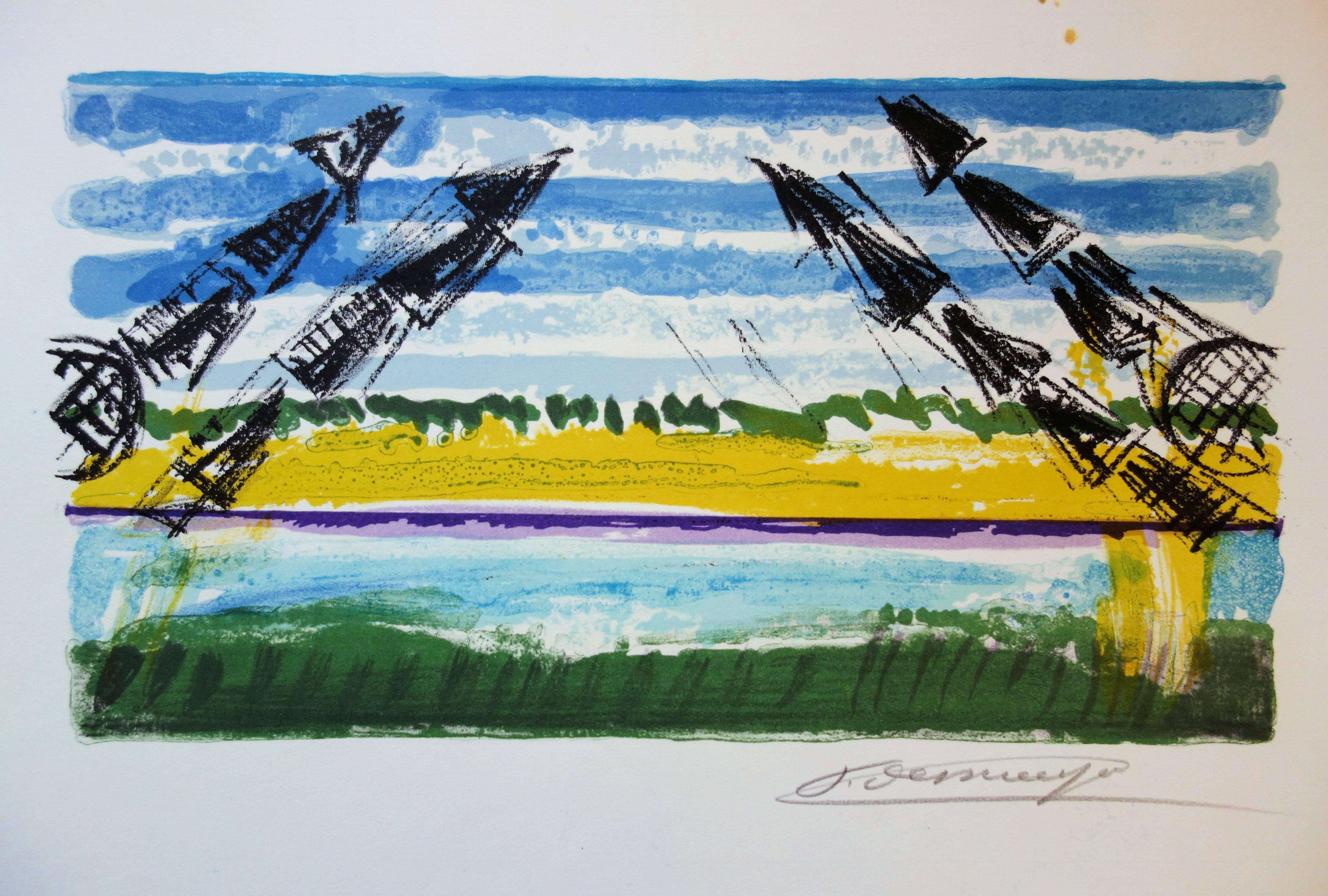 The Cranes - Original handsigned lithograph