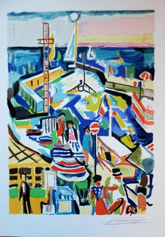 National Day in the Harbour - Original handsigned lithograph