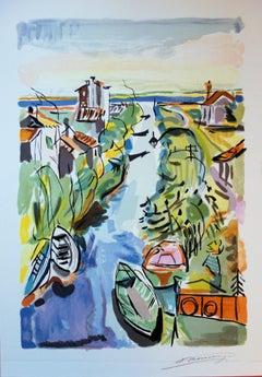Channel to the Sea - Original handsigned lithograph