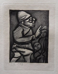 Wise Man - Original etching - 1929