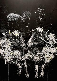 Black Sheep - Original handsigned linocut, limited edition of 16 prints