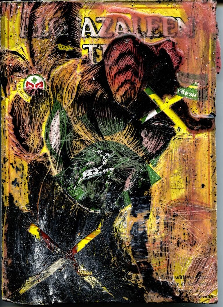 Carte I - Original wax painting and mixed media
