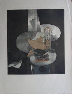 Cubist Still Life - Original Handsigned Etching - 150ex
