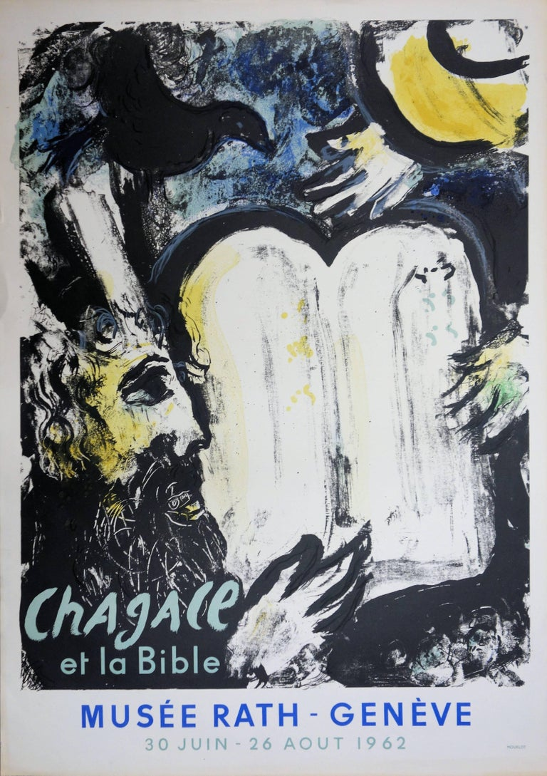 Moses and the Law Tables - Original lithograph - Mourlot 1962