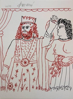 Mythology : King and Andromaque - Original handsigned lithograph /99ex