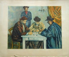 Card Players - Etching and aquatint engraved by Jacques Villon / 200ex