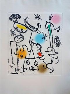 Paroles Peintes - Original color Etching and Aquatint - 1967