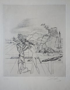 Gradiva (A Surrealist Sunday) - Handsigned etching / 120 ex