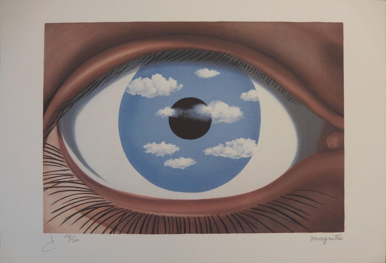 Ren magritte le faux miroir for sale at 1stdibs for Magritte le faux miroir