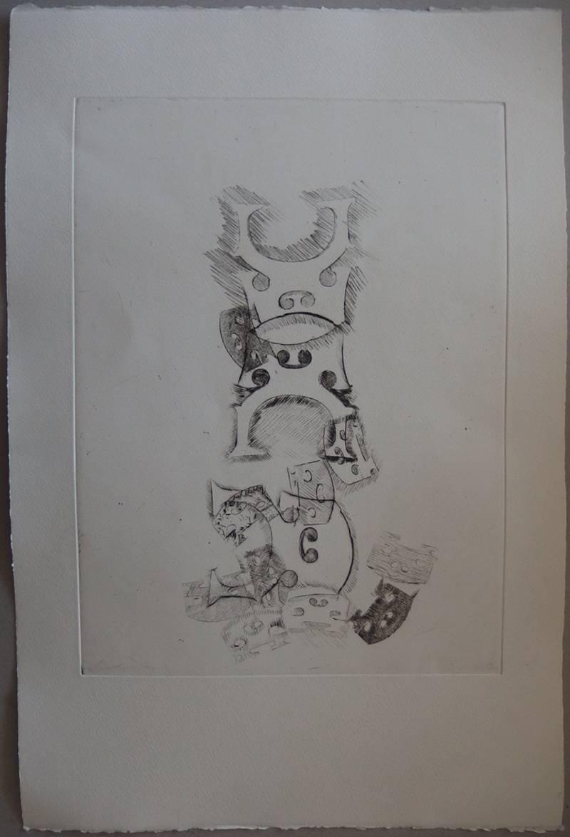Stacking of bridges - Original etching - 75 copies