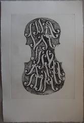 Holes of Violon - Original etching - 75 copies