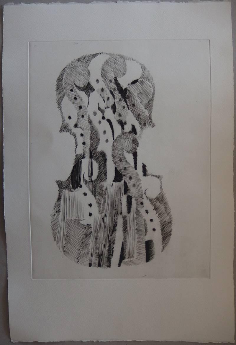 Accumulation of scrolls - Original etching - 75 copies