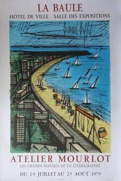 Beach of La Baule (poster, Atelier Mourlot Exhibition) - 1979