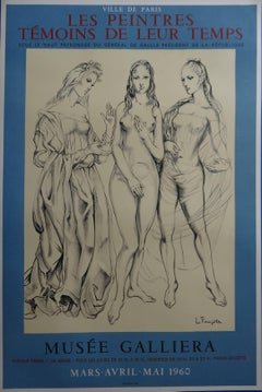 Three Graces - Original lithograph poster - Plate signed - 1960