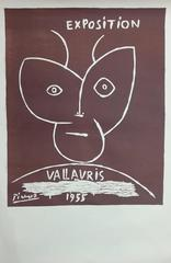 Exposition Vallauris 1955 - Original Linocut
