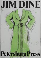 The Green Coat - Original Lithograph Signed In Pencil