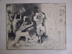 The Fauns  Danse - Original signed litograph - 1957