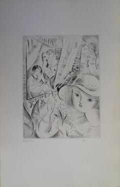Lily of the valley - Etching,Handsigned