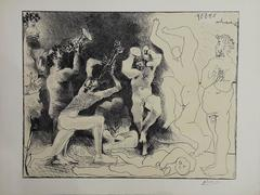 The Dance of the Fauns - Original lithograph
