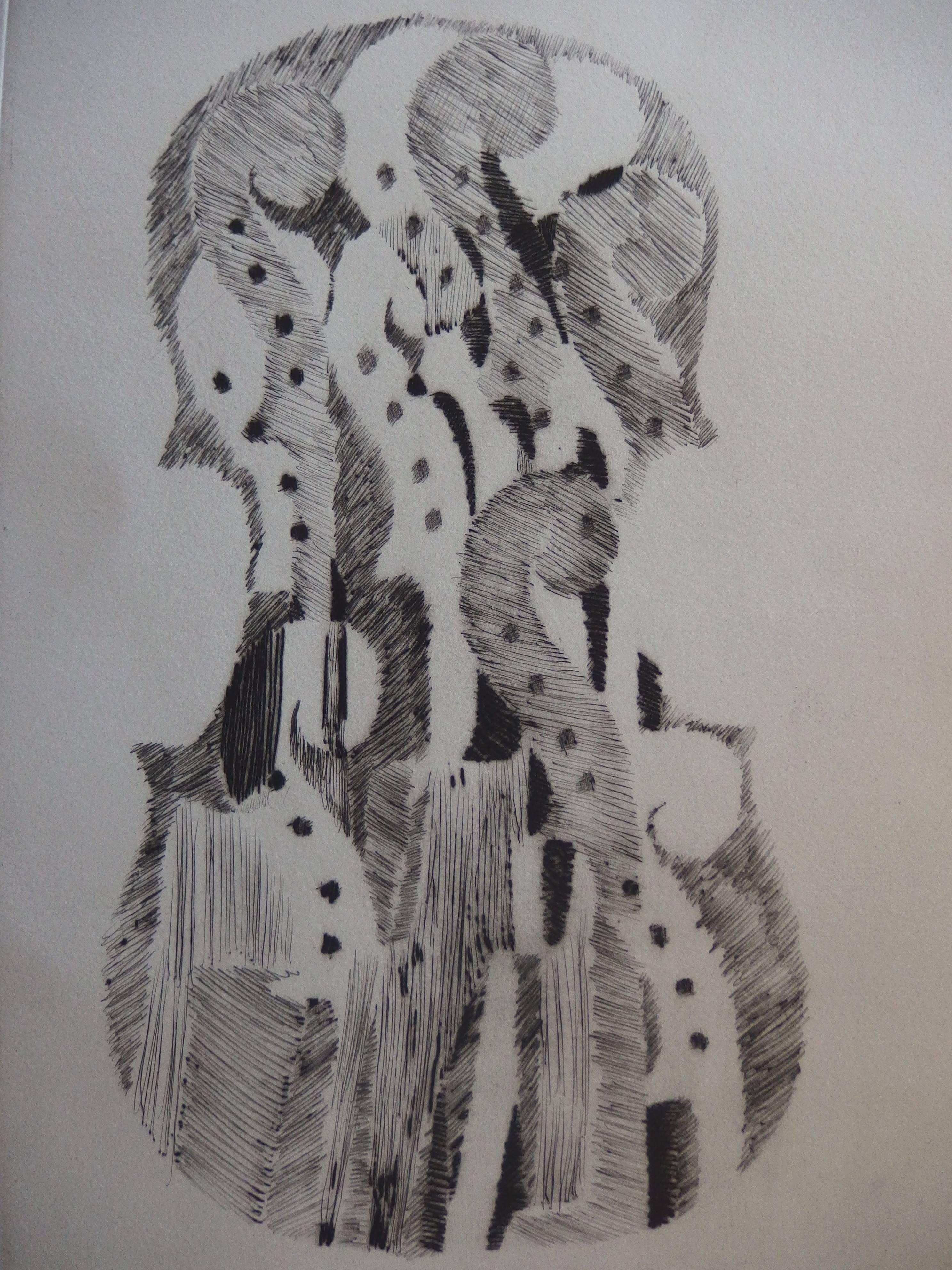 Accumulation of Scrolls - Original etching - 1979