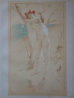 L'Inconnue - Original lithograph - 1897