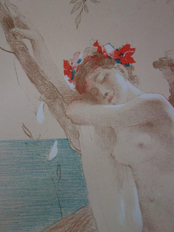 L'Inconnue - Original lithograph - 1897 For Sale 1