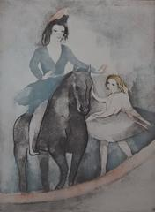 Rider and Dancer - Etching
