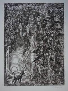 December : Christmas Tree - Original handsigned etching - Exceptional n° 1/100