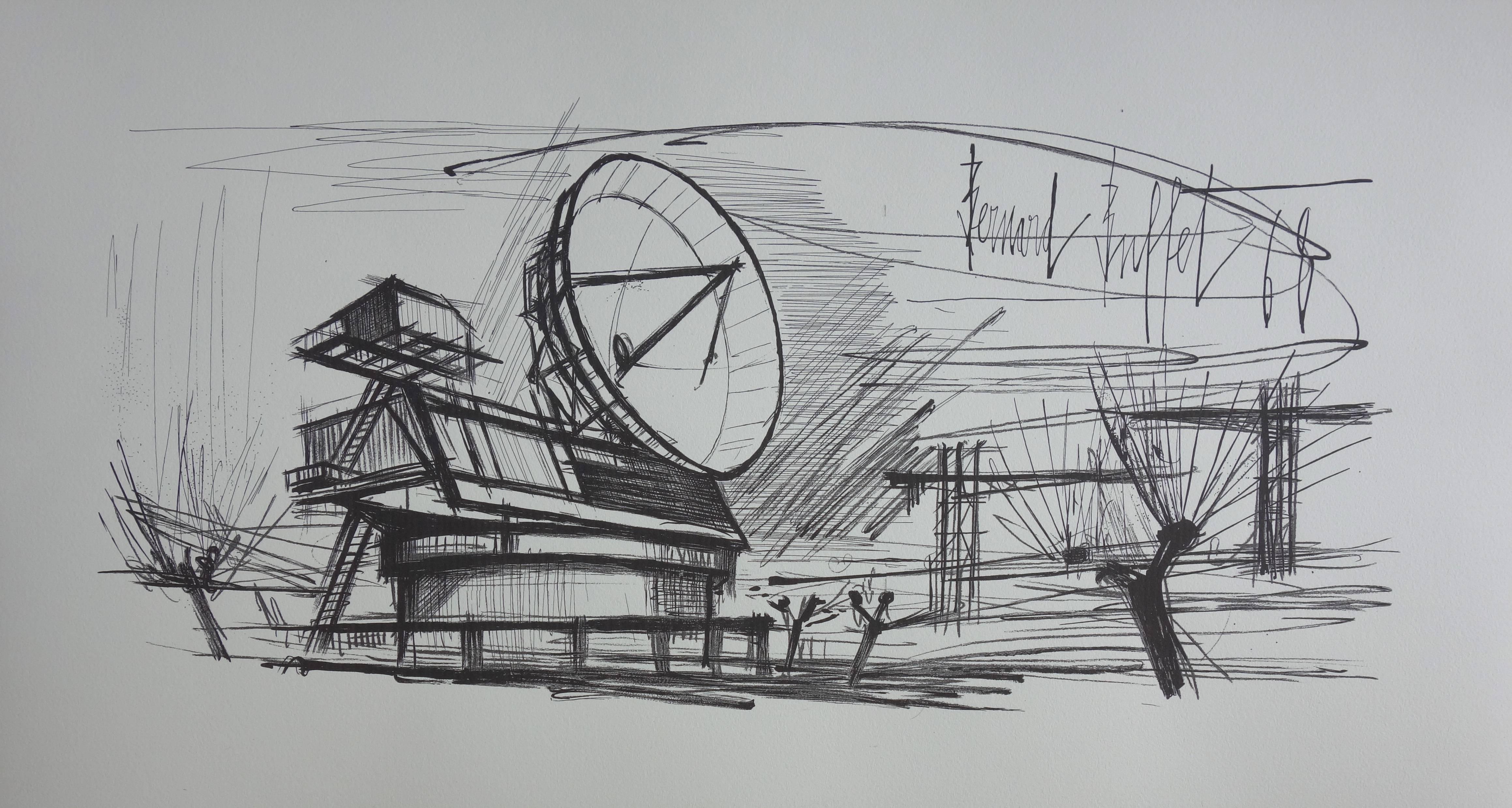 Radar Station - Lithograph on vellum - 1968