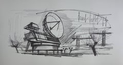 Radar Station - Lithograph on vellum - 1968