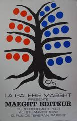Tree with Blue and Red Fruits - Lithograph - Maeght 1971
