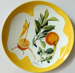 Flordali, Erotic Grapefruit - Porcelain dish (Imperial yellow finish)