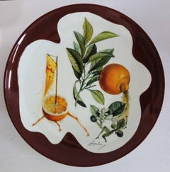 Flordali, Erotic Grapefruit - Porcelain dish (Bordeaux red finish)