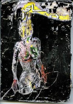 Carte II - Original wax painting and mixed media