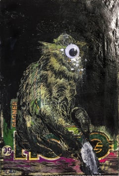 Monkey I - Original wax painting and mixed media