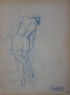 Intimate Moment - Pencil drawing - circa 1914