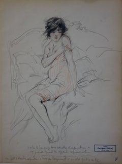 Morning moments - Pencil drawing - circa 1914