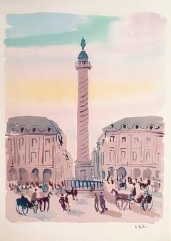 PARIS - Place Vendôme - Original Lithograph Handsigned - 250 copies
