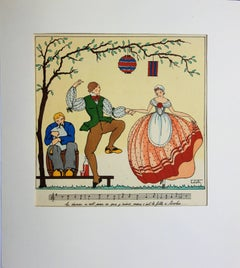 Coleth : Traditional Dance - Original pochoir