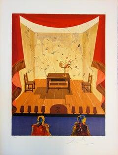 Marquis de Sade : A Miserable Flat - Original handsigned lithograph