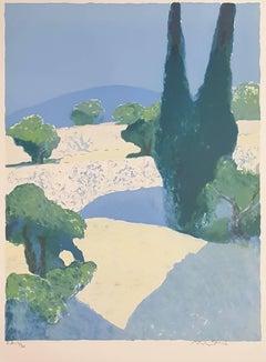 Landscape Of Provence - Original Lithograph Handsigned