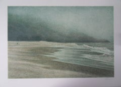 Seascape : Ocean and Beach - Original handsigned lithograph