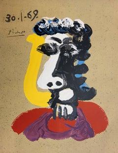 Imaginary Portraits : Cubist Face - Lithograph (250 copies) - 1970