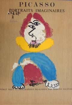 "Poster for ""Imaginary Portraits"" exhibition: Spanish Man - Lithograph - 1971"