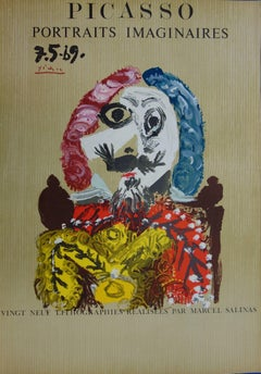 Imaginary Portraits : Elegant Rich Man - Lithograph - 1971